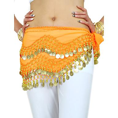 povoljno Odjeća i obuća za ples-Trbušni ples Pojas Žene Trening Šifon Perlica / Kovanice Trbušni ples Hip Šal / Seksi blagdanski kostimi