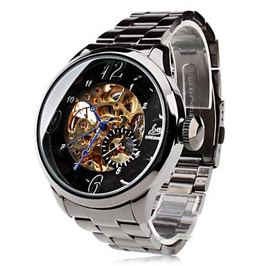 Miesten Rannekello mekaaninen Watch Automaattinen itsevetävä Hollow  Engraving Ruostumaton teräs Bändi Musta Brändi SHENHUA 402706 2019 –  hintaan  22.99 051f1d03a3