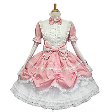 Prinsessa Dam Sweet Lolita Gothic Lolita Classic Lolita Klänningar Rosa Rosett Spets Cotton lolita tillbehör / Gotisk Lolita / Klassisk / Traditionell Lolita / Punk Lolita