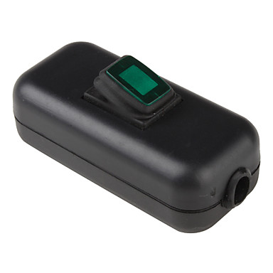 Water Resistant In Line On Off Rocker Switch With Green