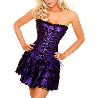 Purple Corset Short Dress