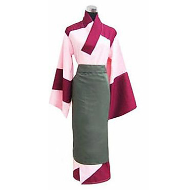 260 55 Inspired By Inuyasha Sango Anime Cosplay Costumes Cosplay Suits Kimono Long Sleeves Yukata Apron For Women S