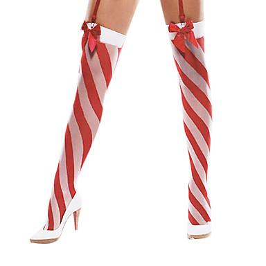 valkoinen joulu 2018 seksikäs keula raidallinen punainen ja valkoinen joulu sukkanauhat  valkoinen joulu 2018