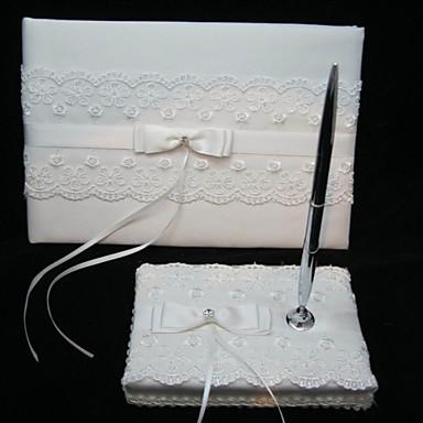 8a406638d7 elegáns esküvői vendégkönyv és toll szett csipkével 426698 2019 – $24.99