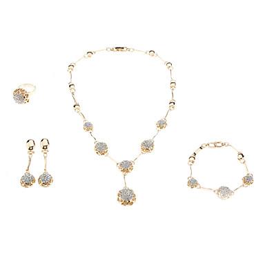 voordelige Dames Sieraden-Dames Kristal Drijven Modieus Kristal Strass oorbellen Sieraden Gouden Voor Bruiloft / Ringen / Oorbellen / Kettingen / Armband