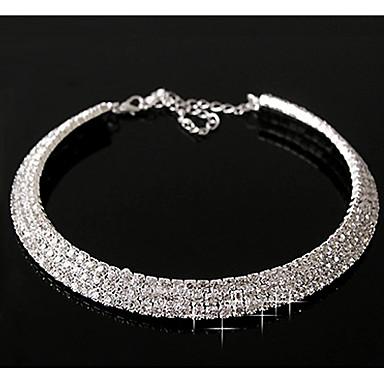 povoljno Modne ogrlice-Sintetički dijamant slojeviti Ogrlice Zvjezdana prašina Statement dame Ležerne prilike Birthstones Dijamant Legura Pink zaslon u boji Ogrlice Jewelry Za