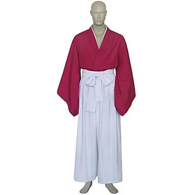 Rurouni Kenshin Kenshin Himura Cosplay Costume Hand-custom Red White Kimono