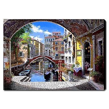 Dipinti a mano olio pittura di paesaggio di venezia 1211 for Quadri dipinti a mano paesaggi