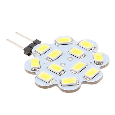 preiswerte LED-Spotleuchten-1.5 W LED Doppel-Pin Leuchten 6000 lm G4 12 LED-Perlen SMD 5630 Natürliches Weiß 12 V / #