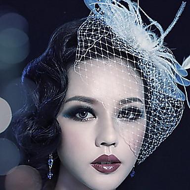 povoljno Party pokrivala za glavu-Til / Kristal / Perje tijare / Vjeverica kose s 1 Vjenčanje / Special Occasion / Zabava / večer Glava / Tekstil
