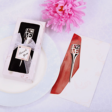 Wedding Bridal Shower Chrome Bookmarks Letter Openers Classic