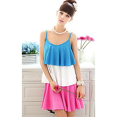 635546a7a00d Kontrasttröja dam färg plisserad klänning 466106 2019 – $42.99