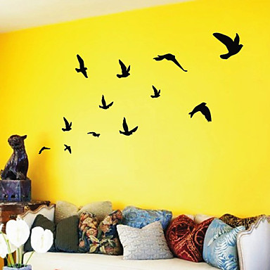 Birds flying wall art wall stickers 481237 2018 for Stickers para pared