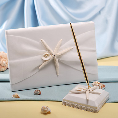 Guest Book Pen Set Polyester Beach Theme With Starfish And Seashell 257480 2018 22 99