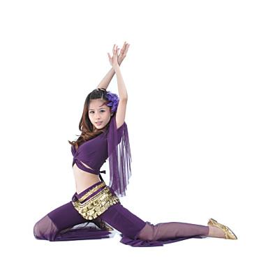 povoljno Odjeća i obuća za ples-Trbušni ples Outfits Žene Trening Crystal Pamuk 3/4 rukava Sudačko