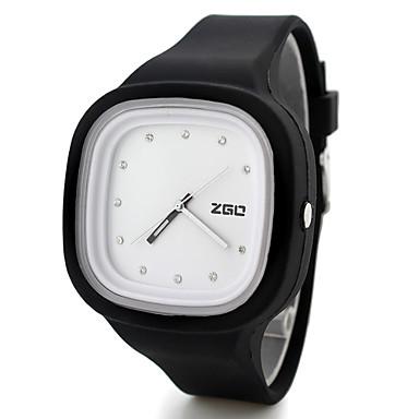 fa0114f27 příležitostná kontrastní barevné silikonové hodinky kapela zápěstí (černý a  bílý) 499989 2019 – $12.86