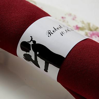 povoljno Svadbeni ubrusi-Vjenčanje Salvete - 50pcs Presteni za ubruse Vjenčanje godišnjica Zaručnička zabava Djevojačka večer Klasični Tema