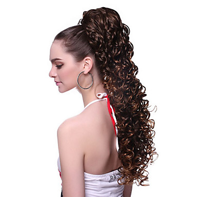 """levne Culíky-Culíky a copy Vlnitá Umělé vlasy 100% kanekalon vlasy 20"""" Prodlužování vlasů Na připnutí"""