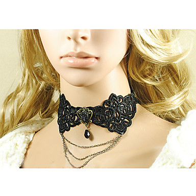 Women s Gothic Layered Black Diamond Lace Necklace 537729 2019 –  22.99 70fee3005f