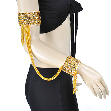 povoljno Odjeća i obuća za ples-Oprema za ples Rekviziti Žene Trening Poliester S resicama / Trbušni ples / Seksi blagdanski kostimi