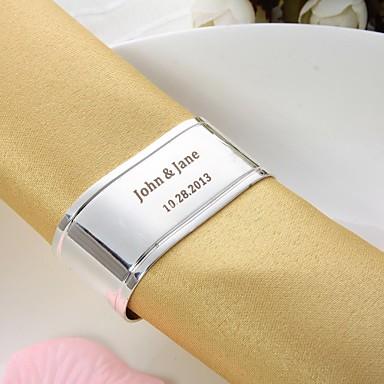 preiswerte Servietten für die Hochzeit-Material Silber beschichteter Stahl Hochzeit Servietten Servietten Anderen Serviettenringe Hochzeit Party Jahrestag Geburtstag Party /