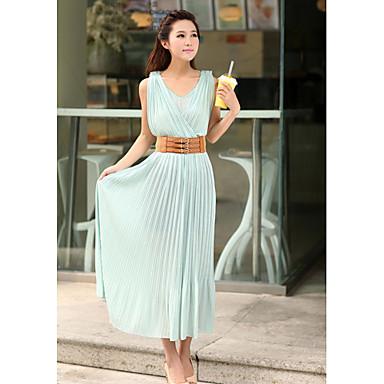 acf09d60be0d δαντέλα γυναικών πίσω λάστιχο στη μέση σιφόν φόρεμα maxi 566503 2019 –  $40.99