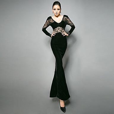 3dd0e1b66e4a δαντέλα γυναικών κοπεί βελούδινο φόρεμα ουρά ψαριού 542259 2019 –  69.99