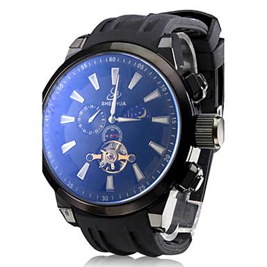 pánské auto-mechanické Tourbillon černé silikonové kapela analogové  náramkové hodinky (různé barvy) 569396 2019 –  39.99 3320f52c5f