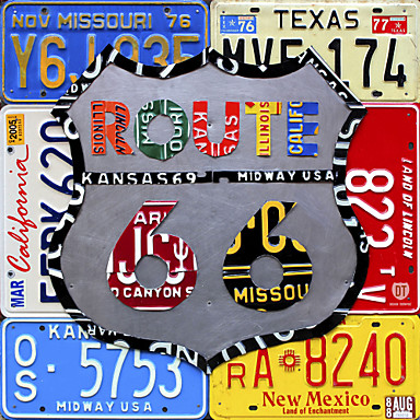[$9 99] Printed Art Words Route 66 Road Sign by Design Turnpike