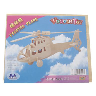 levne 3D puzzle-3D puzzle Dřevěné puzzle Fighter Helikoptéra Zábava Dřevěný Klasické Chlapecké Dívčí Hračky Dárek