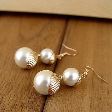 e9926d5ef67d Doble aretes de perlas grandes de la Mujer 583782 2019 –  8.99