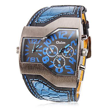 levne Pánské-Oulm Pánské Vojenské hodinky Náramkové hodinky Křemenný Z umělé kůže Černá / Bílá / Modrá Hodinky s dvojitým časem Analogové Přívěšky - Černá Červená Modrá Dva roky Životnost baterie / SOXEY SR626SW