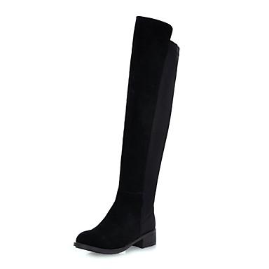 elegáns bőr lapos sarok felett Csizma alkalmi cipő 622957 2019 –  59.99 df26a20906