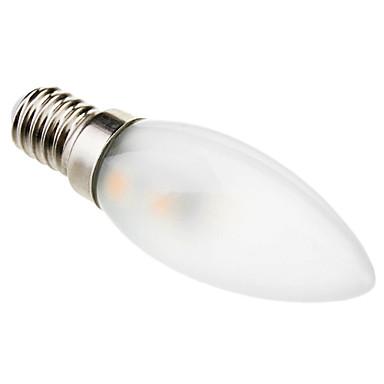 preiswerte LED-Kerzenlichter-1pc 1 W LED Kerzen-Glühbirnen 70 lm E14 C35 7 LED-Perlen SMD 5050 Dekorativ Warmes Weiß Kühles Weiß 220-240 V / RoHs