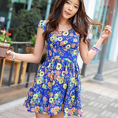 a7910c723bd4 Vintage Εκτύπωση Πλισέ Φόρεμα γυναικών 622213 2019 – $36.99