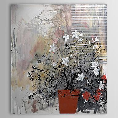 Gergin çerçeve 1307 Fl0154 Ile çiçek Saksı çiçek Boyama El Boyalı