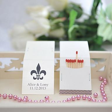 preiswerte Personalisierte Zündholzschachteln-Personalisierte Box Material / Hartkartonpapier Hochzeits-Dekorationen Hochzeit / Party Blumen / Hochzeit Frühling / Sommer / Ganzjährig