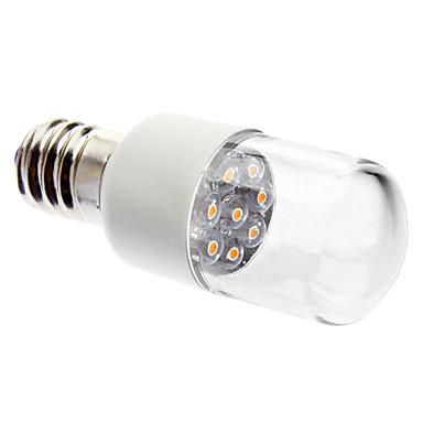 preiswerte LED-Kerzenlichter-1pc 0.5 W LED Kerzen-Glühbirnen 50-80 lm E14 8 LED-Perlen Dip - Leuchtdiode Dekorativ Warmes Weiß 220-240 V / RoHs