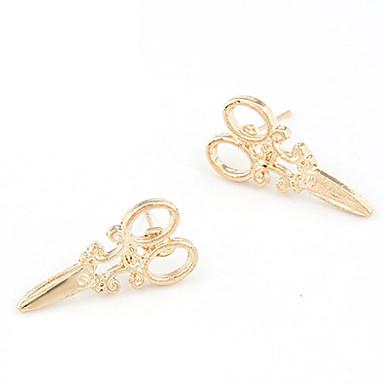 povoljno Modne naušnice-Žene Sitne naušnice Škare jeftino dame Personalized Moda Naušnice Jewelry Za Dnevno