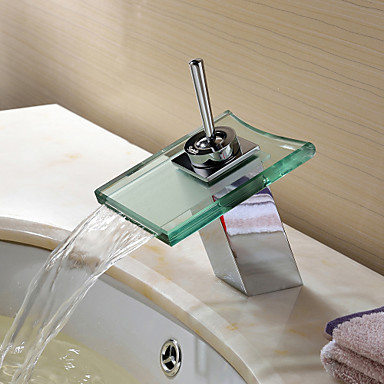 Contemporary with chrome single handle one hole feature for Robinet salle de bain ikea