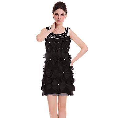 Dámské bez rukávů 3D Flower Mini šaty 723123 2019 –  45.14 c3c36ee27f7