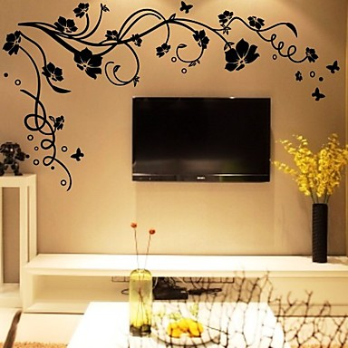 cheap Wall Stickers-DIY Wall Stickers Flower Tree Branches Washable Wall Decals 1pc