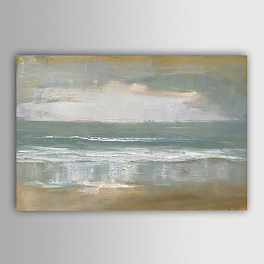cheap Oil Paintings-Hand-painted Abstract Landscape Oil Painting Stretched Canvas With Stretched Frame
