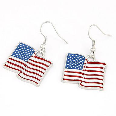 povoljno Modne naušnice-Zastava jeftino Patriotski nakit Personalized Klasik Moda Naušnice Jewelry Pink Za Party Dnevno Kauzalni