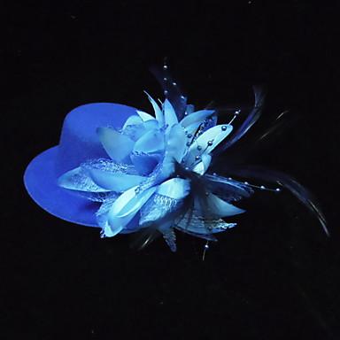 levne Klobouk na party-Hedvábí Květiny / Doplňky do vlasů s Květiny 1ks Zvláštní příležitosti Přílba