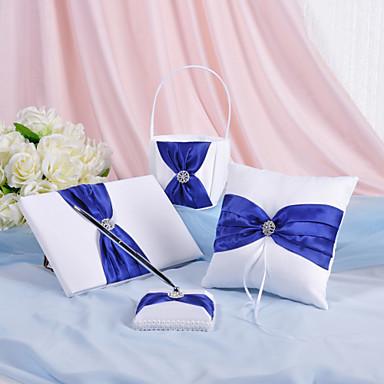 preiswerte Sets aus den Hochzeitskollektionen-Garten Hochzeits Accessoires Set Mit Strass Schleife Satin