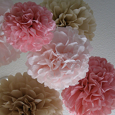 cheap Wedding Decorations-Tissue Paper Decoration Mixed Material Wedding Decorations Wedding Party Floral Theme / Classic Theme Spring / Summer / Fall