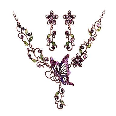 z amp X® γοητευτικό λουλούδι πεταλούδα κολιέ σκουλαρίκια που κοσμήματα των  γυναικών 762907 2019 –  8.99 e19f23c2eb4