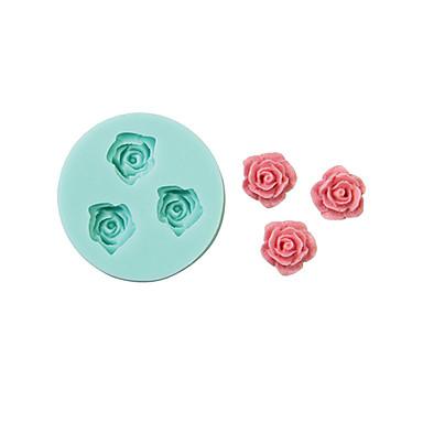 [$3.23] Rose Form Silikonform Kuchen dekorieren Backwerkzeug, zufällige Farbe \\