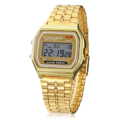 Heren Polshorloge Digitaal horloge Digitaal Goud Alarm Kalender Chronograaf Digitaal Amulet - Gouden Een jaar Levensduur Batterij / LCD / SODA AG4